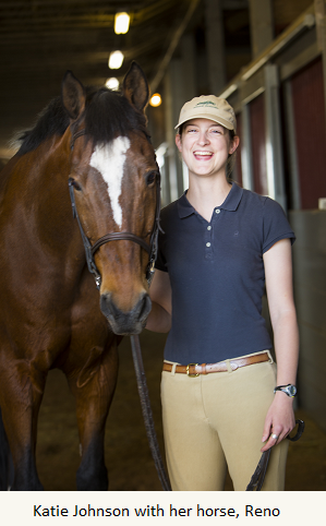 Equestrian studies and social work program student