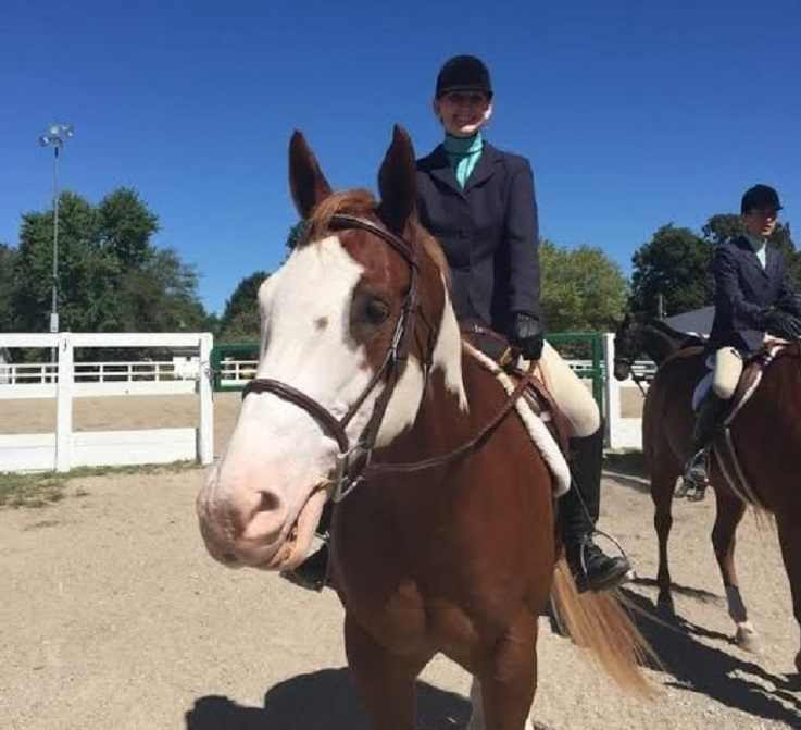 equestrian student at 2015 Color Breed Congress