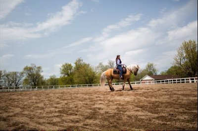 William Woods equestrian students train for western competition.