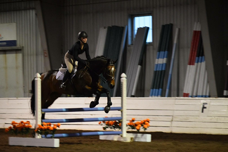 Vonla Glassman riding Chip at the William Woods University George Morris Clinic, April 28-30.